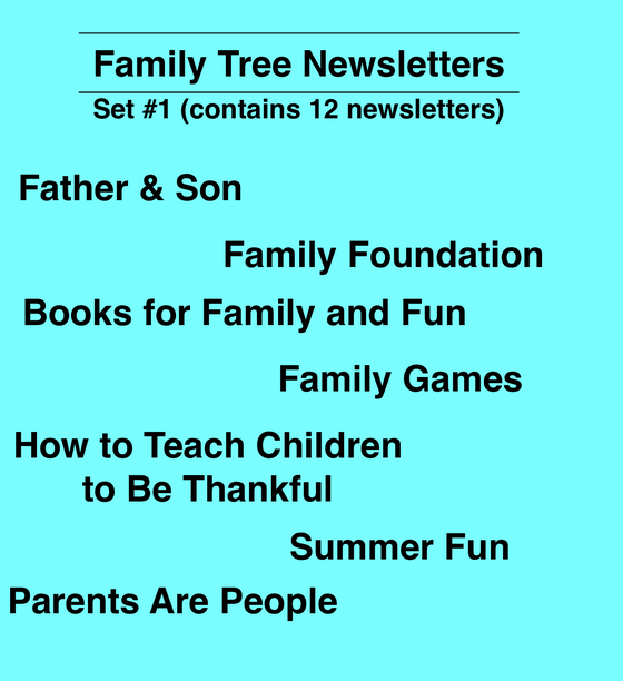 Image of Family Tree Newsletter (12 articles)