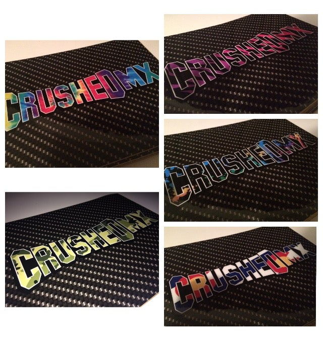 Image of Crushed MX Carbon Fiber Fork Protector Decals