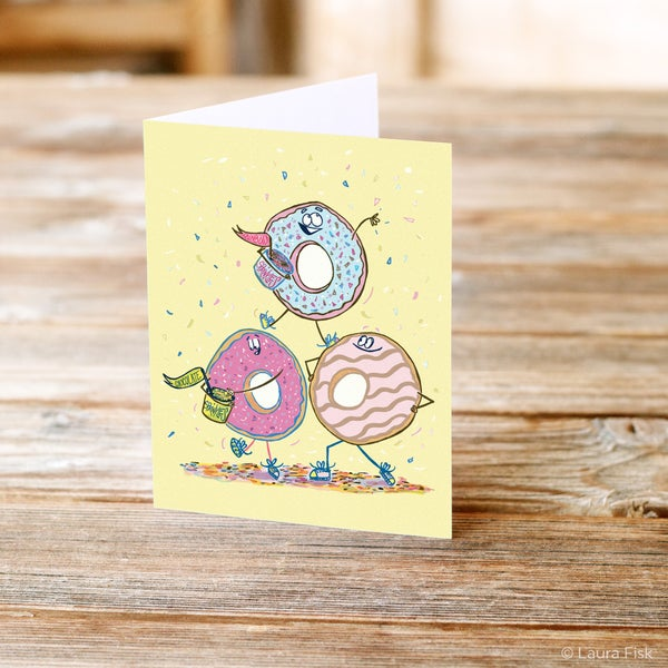 Image of Donuts Happy Birthday Greeting Card
