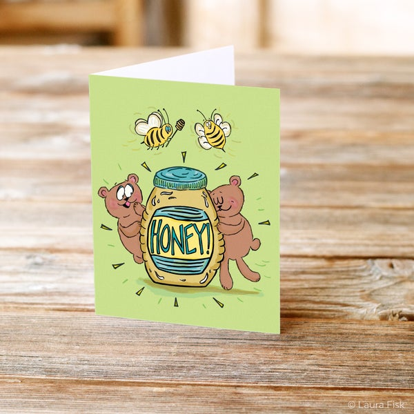 Image of Honey Greeting Card