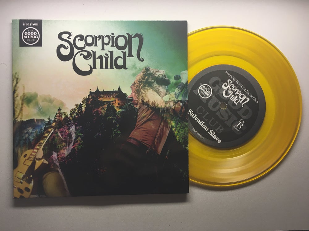 "Image of Good Music club Live 7"" (Gold vinyl)"