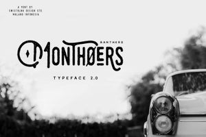 Image of Monthoers Typeface