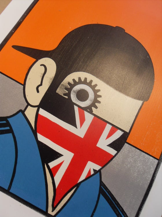 "Image of ""CLOCKWORK BRITAIN"" - PAUL INSECT - 6 COLOUR SCREENPRINT - 2012"