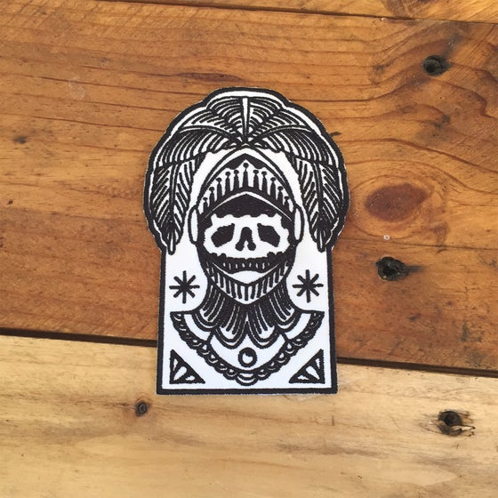 Image of Skull Helmet Patch