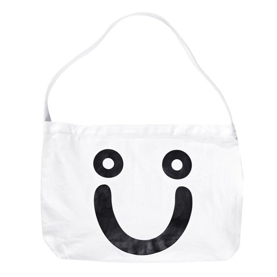 Image of POLAR HAPPY SAD TOTE WHT