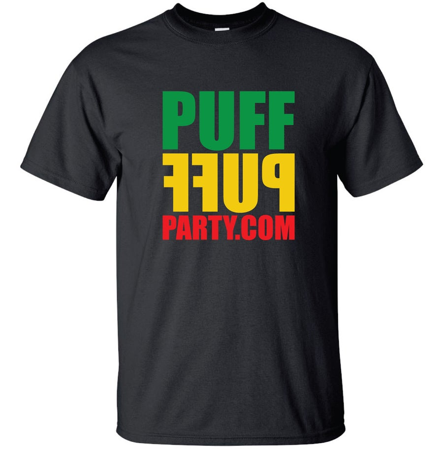 Image of {BLACK} RASTA PuffPuffParty Tee