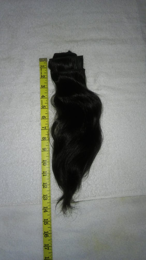 Image of 14 '' 100% Virgin Remy South Indian Temple Hair Extensions