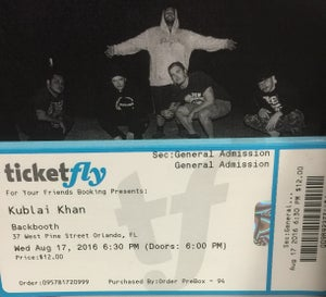 Image of Kublai Khan Tickets 8/17/2016, Backbooth, W. Pine St., Orlando, FL