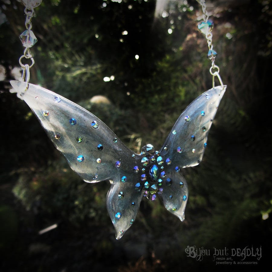 Image of Paradise Shine Butterfly Necklace - Large