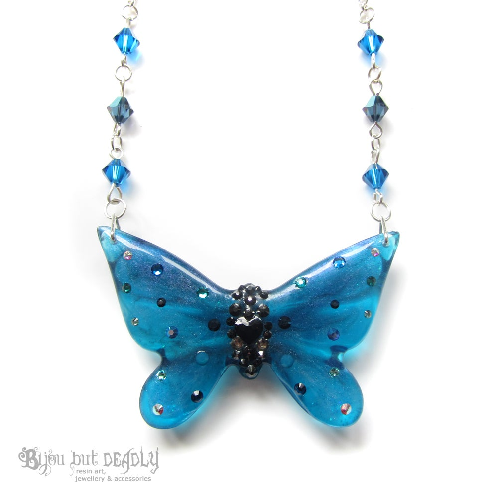 Turquoise Butterfly Necklace - Small