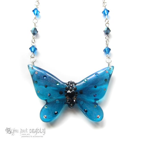Image of Turquoise Butterfly Necklace - Small