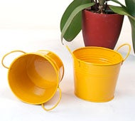 Image of Golden Rod Yellow Tin Pot