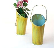 Image of Wall Pocket Pail Verdigris Green