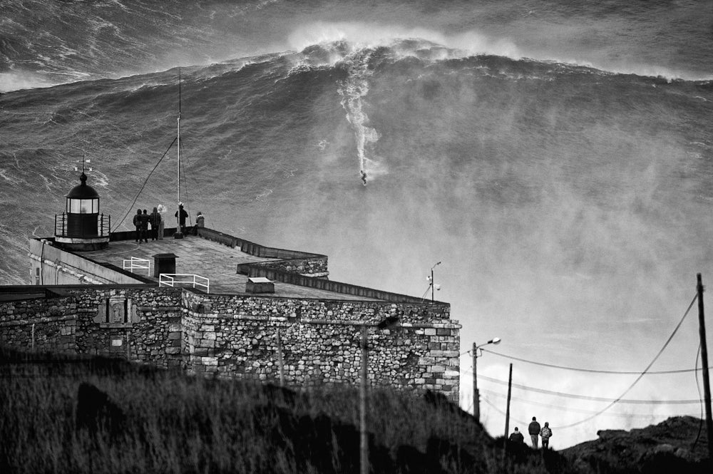 Image of Big Monday Garrett McNamara BW Limited-Edition Print