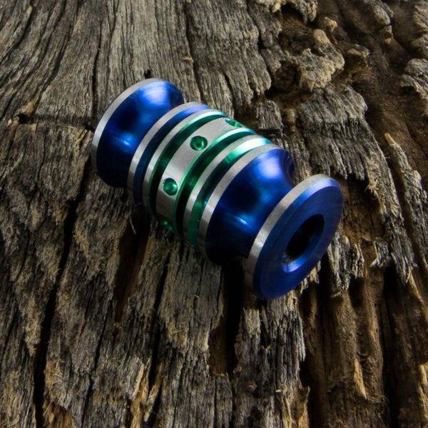 Image of Electric Blue & Green Triple Bead Set #1
