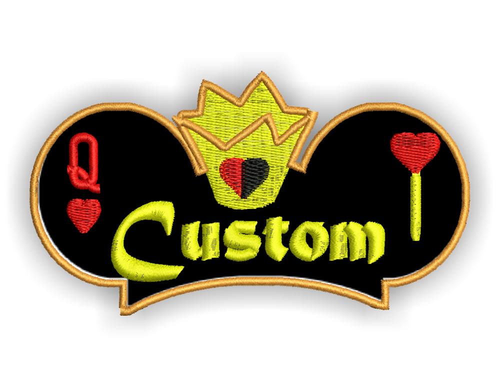 Image of Queen Of Hearts Custom Iron-on Patch