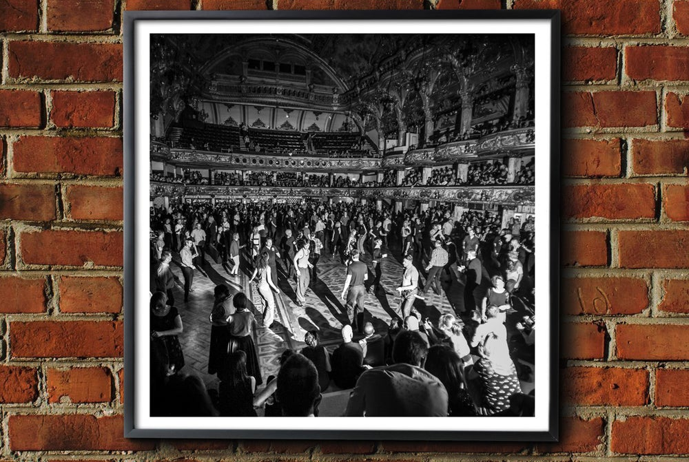 Image of 'Blackpool Tower All Nighter' Framed Print.