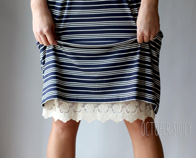 Image of Half Slip Lace Extender! *Style 1* Skirt, Dress S-3XL