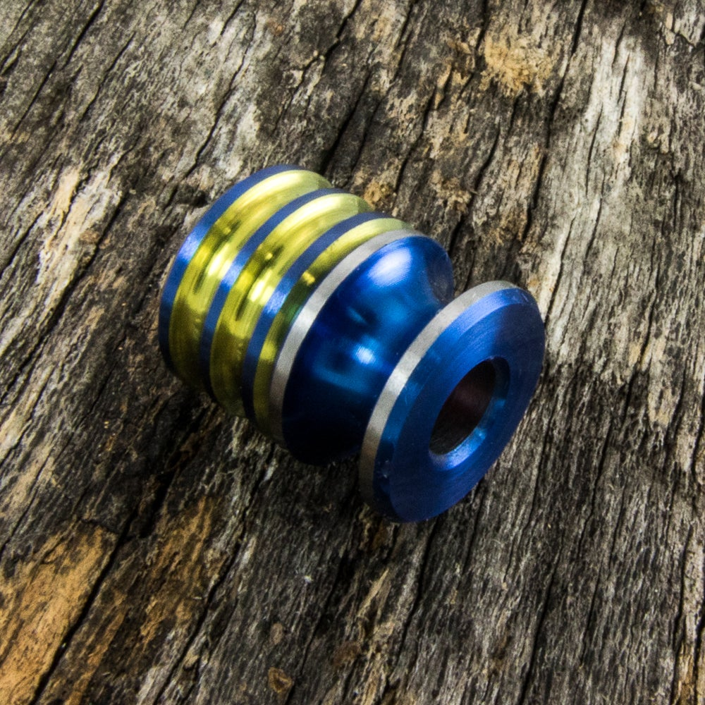 Image of Electric Blue & Yellow Double Bead Set #1
