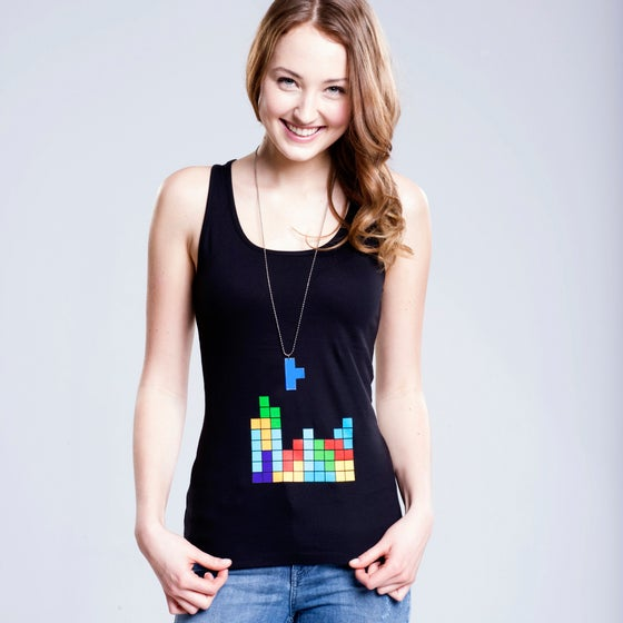 "Image of TankTop & Kette ""TETRIS"" for HER Blue"