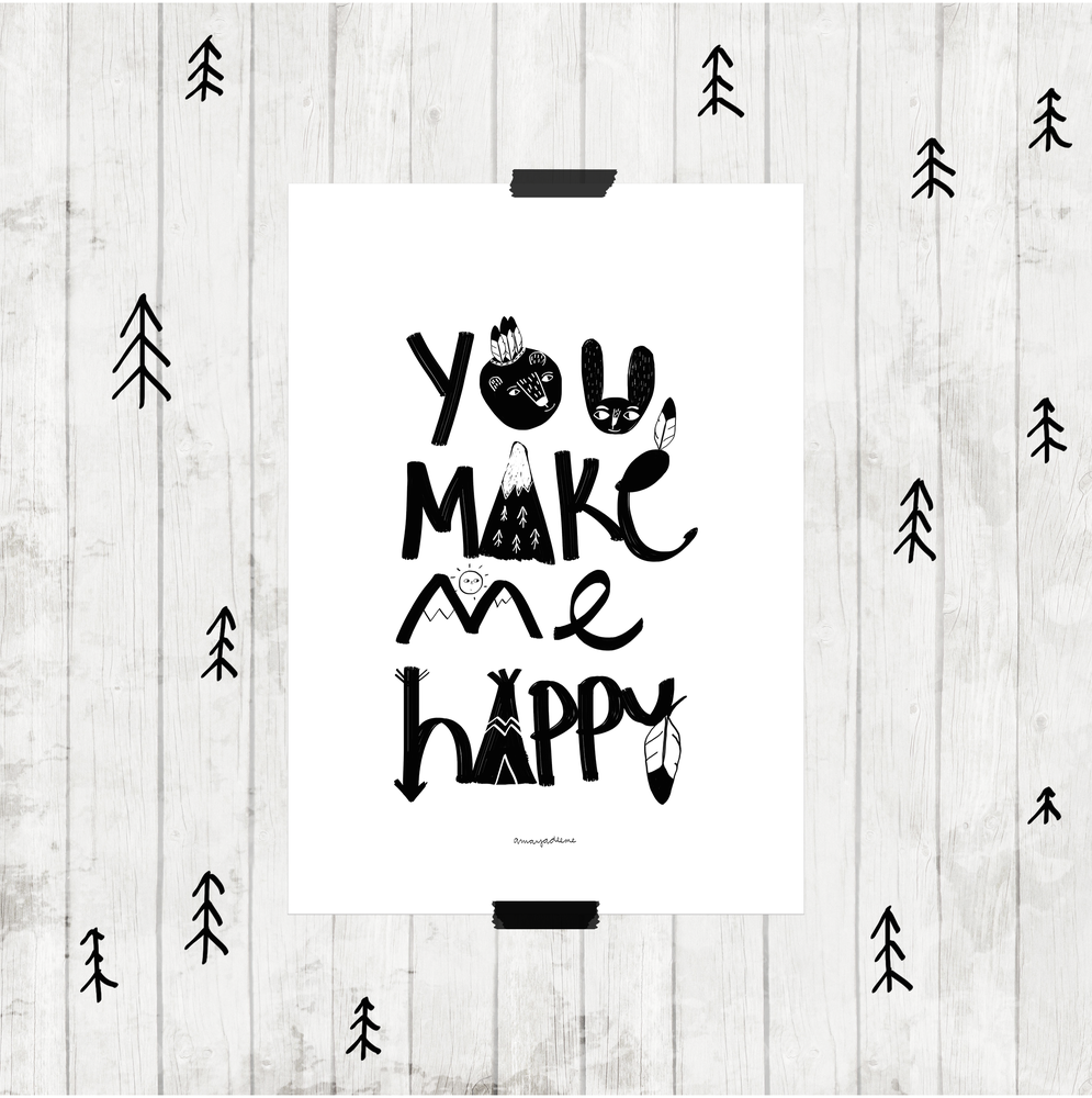 "Image of Lámina ""You make me happy"""