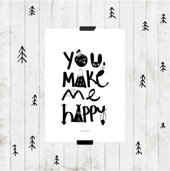 "Image of Lámina ""You make me happy"""