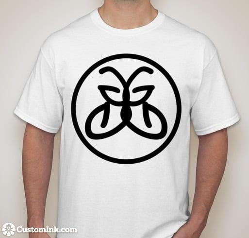 Image of Greenide White Tshirt - Black Logo