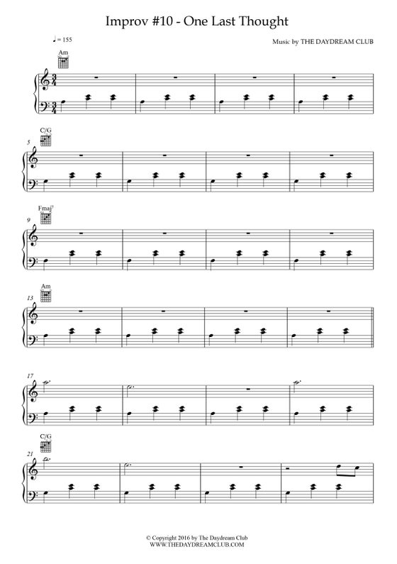 Image of Improv #10 - One Last Thought (Sheet Music)