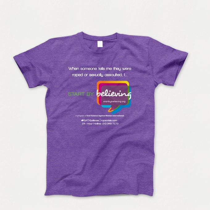 Image of DELIVERY // Start by Believing San Antonio Tee Purple