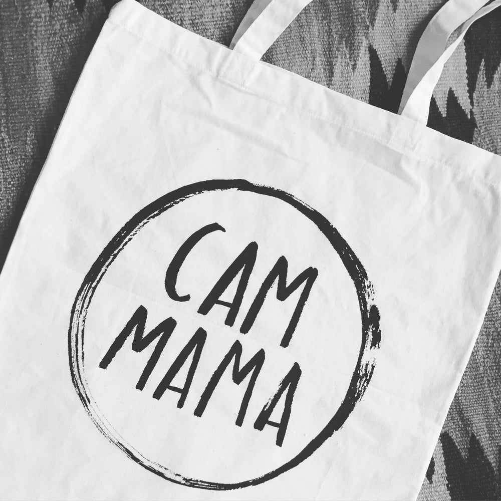Image of #CamMama tote bags