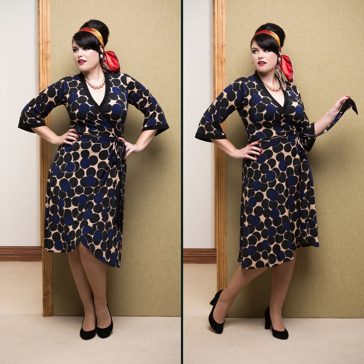 Image of MISS MONEYPENNY WRAP DRESS (other options available)