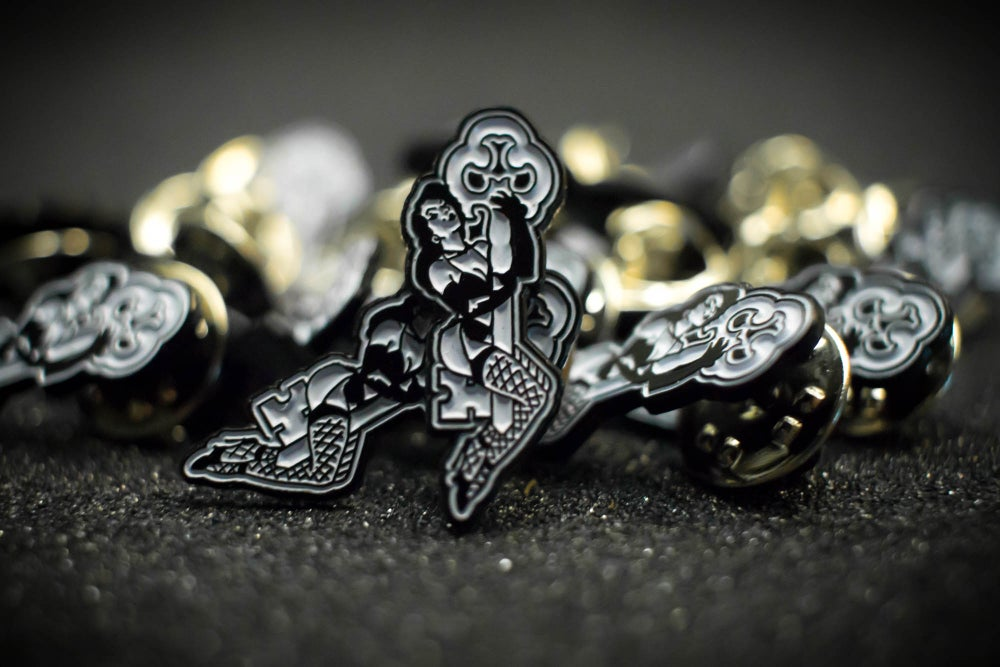 Image of SKELETON KEY MFG ENAMEL KEY HOLDER PINS