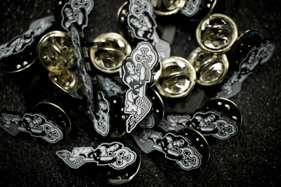 Image of SKELETON KEY MFG ENAMEL KEY HOLDER PINS