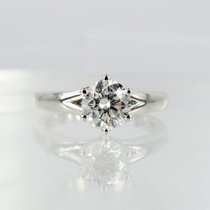 Image of 18ct White Gold Solitaire Diamond Ring