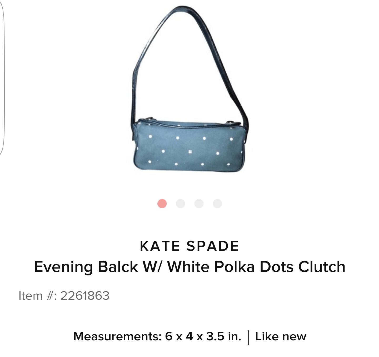 Image of Kate Spade Polka dot clutch