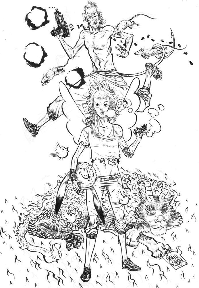 Image of Die Antwoord Tribute. Original drawing