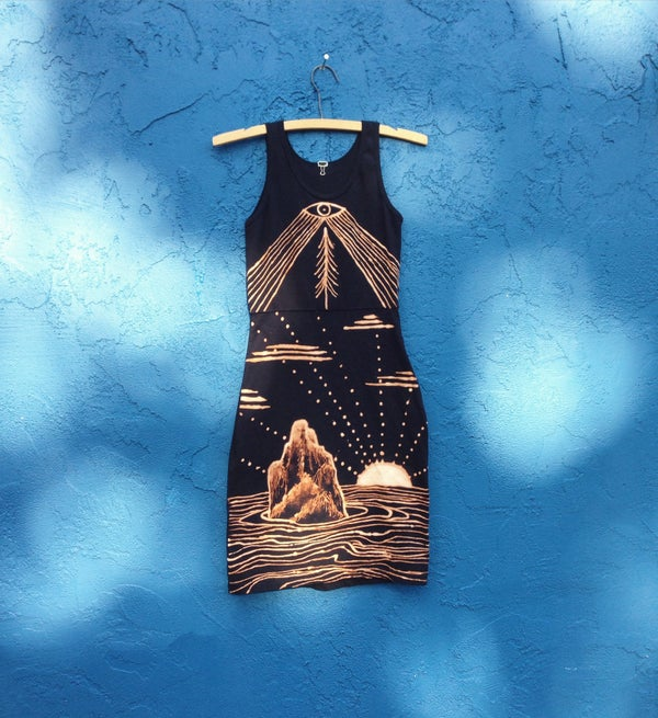 Image of <> FROM THE HIGHEST MOUNTAINS TO THE DEEPEST SEA <<>> one of a kind handmade dress