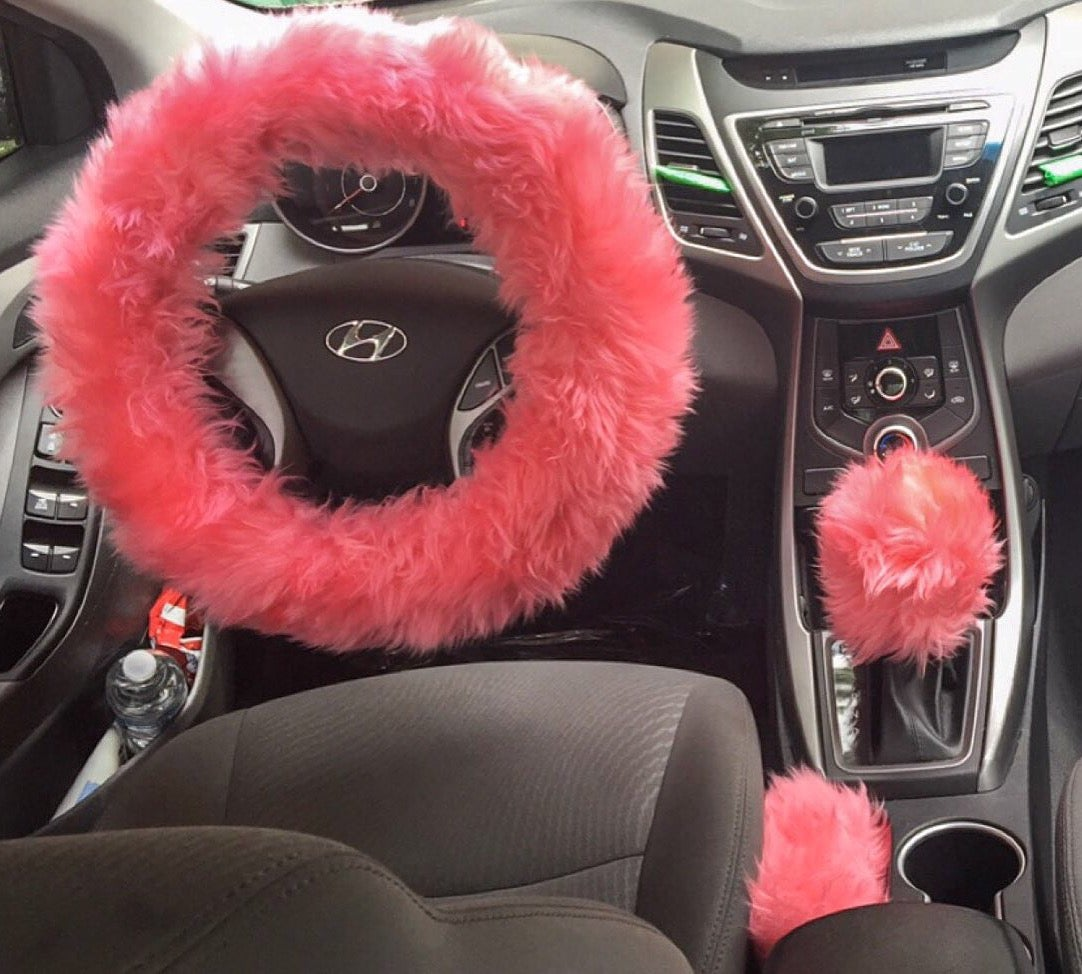 Spoiled Accessories  Fur Lit Fluffy Steering Wheel Covers -1880