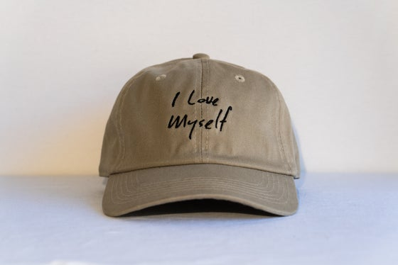 Image of Khaki I Love Myself hat