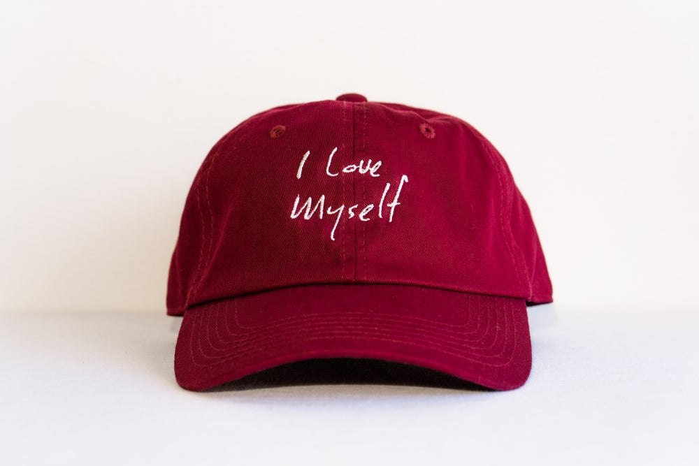 Image of Maroon I Love Myself hat