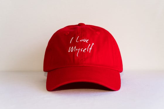Image of Red I Love Myself hat