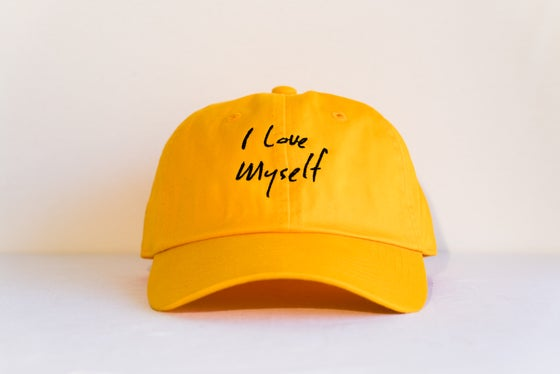 Image of Yellow I Love Myself hat
