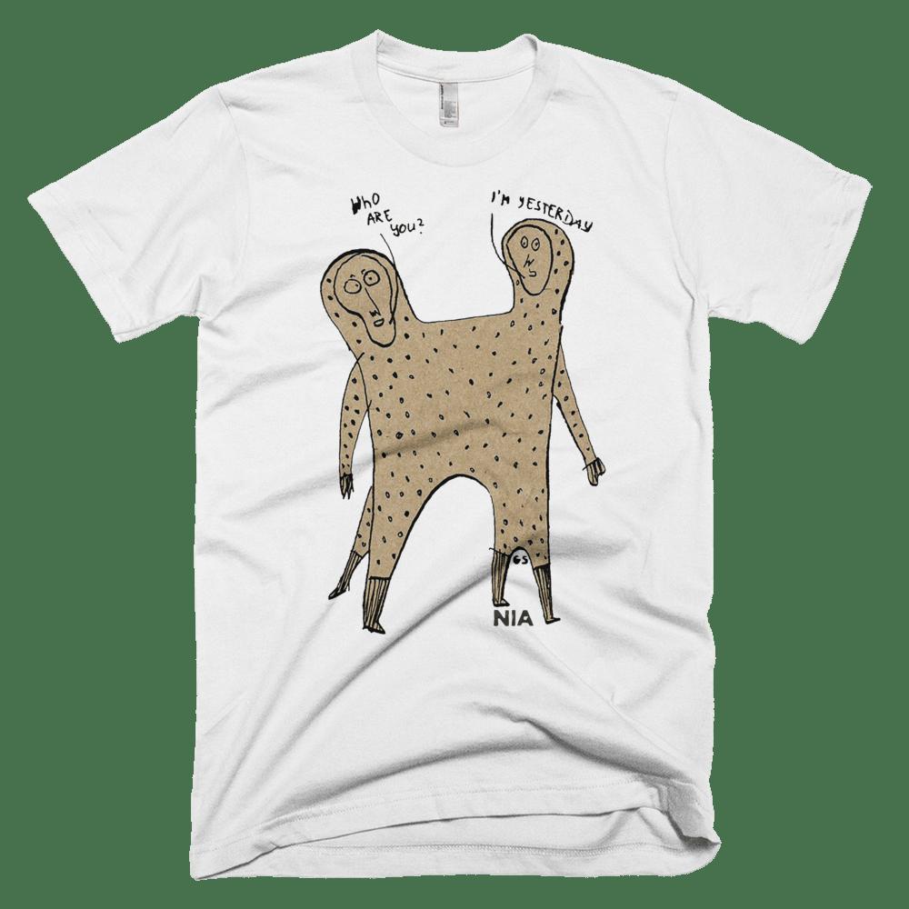 "Image of NIA T-Shirt ""Yesterday"" (men)"