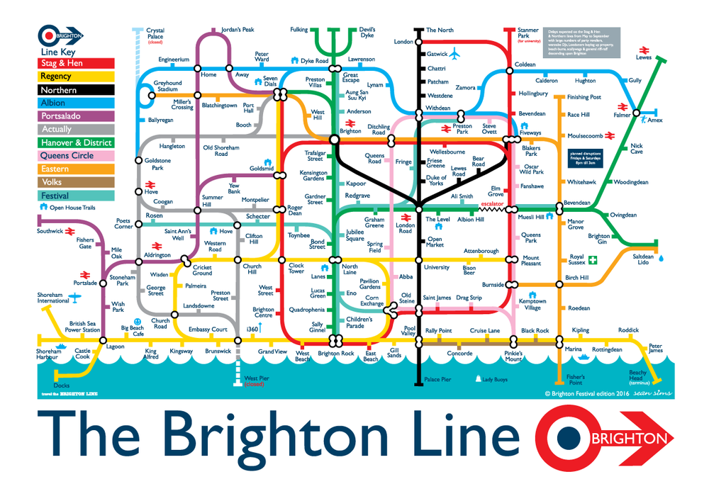 Image of The Brighton Line 2016 Festival Edition- A3 size, signed
