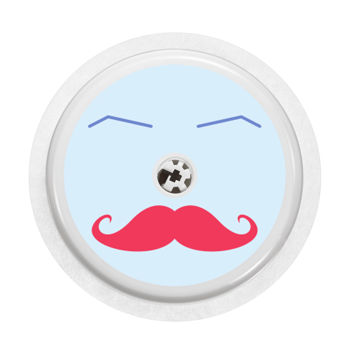 Image of Moustache Freestyle Libre Sticker
