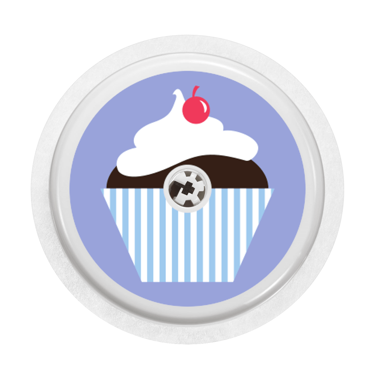 Image of Cupcake blue Freestyle Libre Sticker