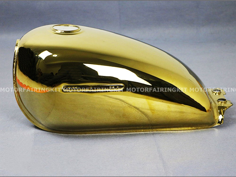 Image of Cafe Racer Suzuki GN125 Fuel Tank/ Gas Tank GN 125 - Gold color