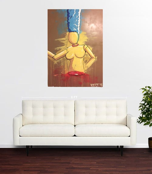 "Image of Mannequin Marge 32 x 48"" Original Painting"