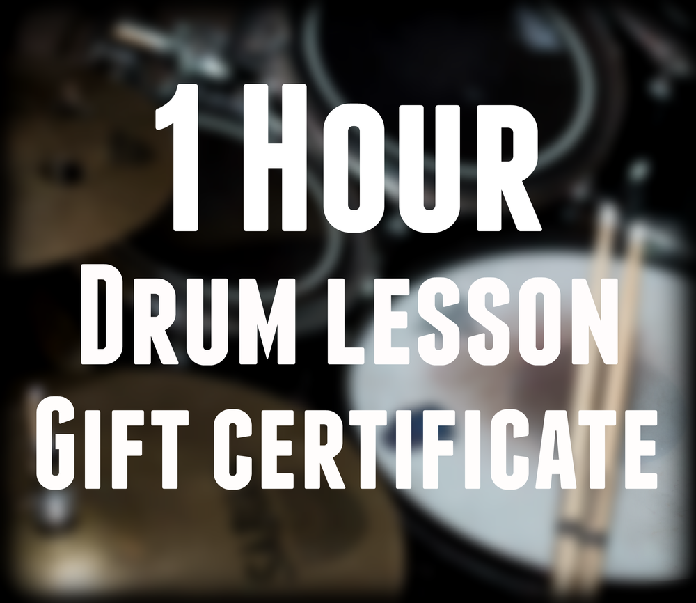 Image of Drum lesson gift certificate - Hour