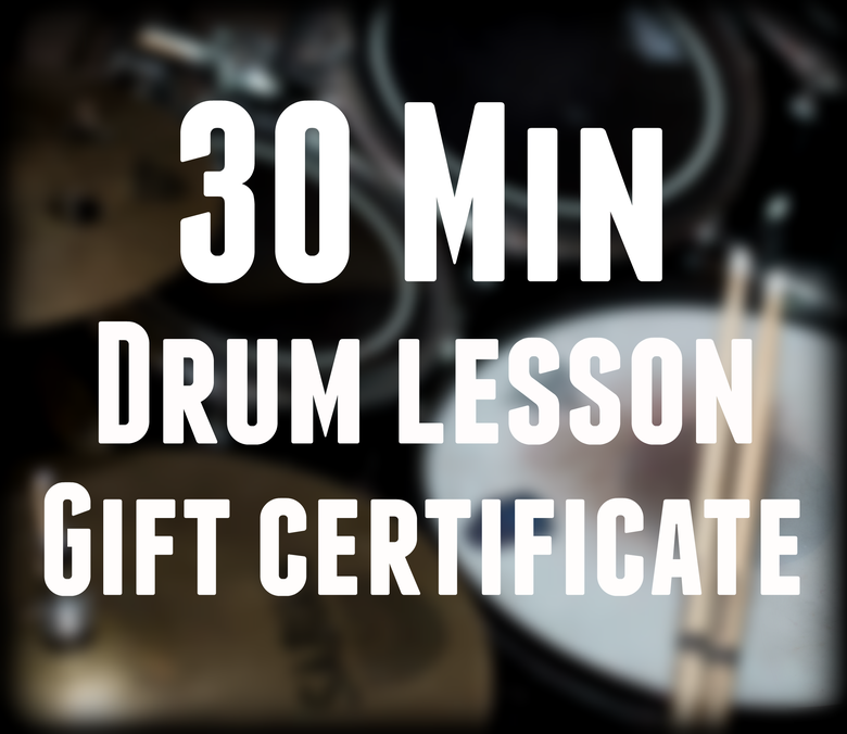 Image of Drum lesson gift certificate - 30 minute